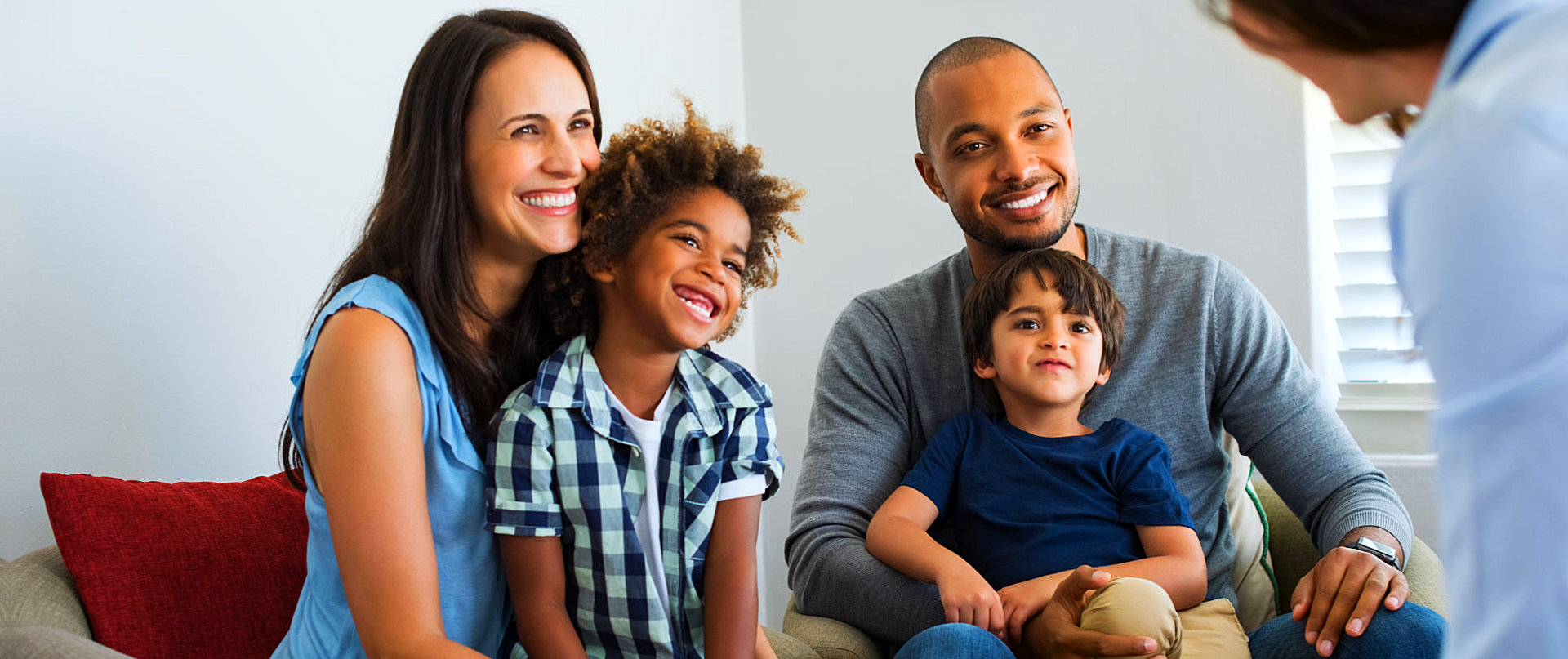 family talking to their therapist